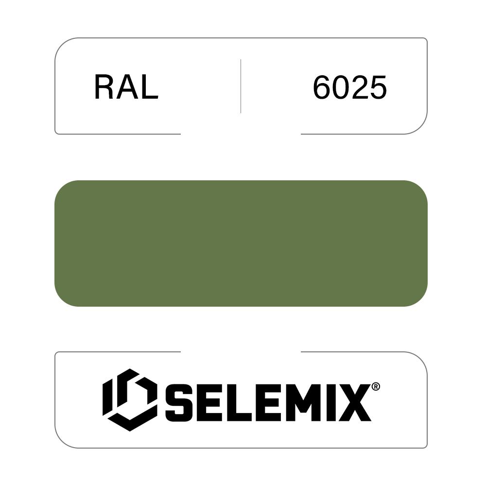 Грунт-эмаль полиуретановая SELEMIX 7-525 Глянец 70% RAL 6025 Папоротниковый зеленый 1кг