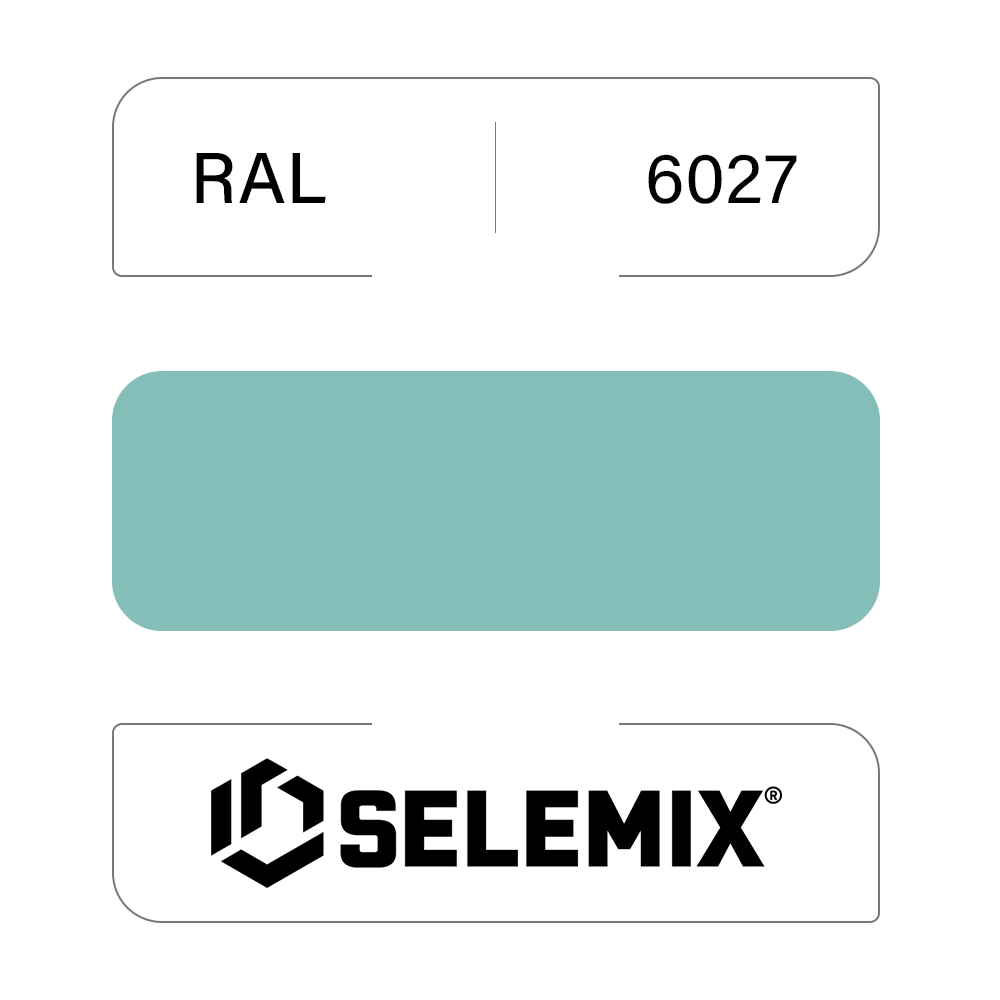 Грунт-эмаль полиуретановая SELEMIX 7-536 Глянец 70% RAL 6027 Светло-зеленый 1кг